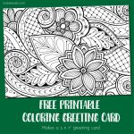 Coloring Card 2 – Greeting Card to Color