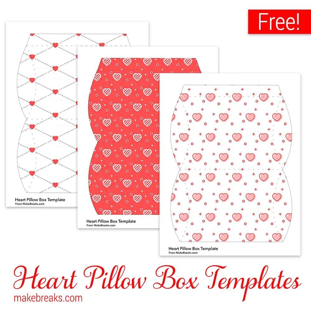 Free Valentine Pillow Box Templates