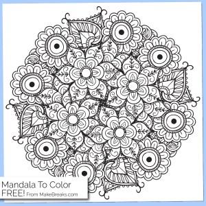 Free Printable Mandala Coloring Page 4