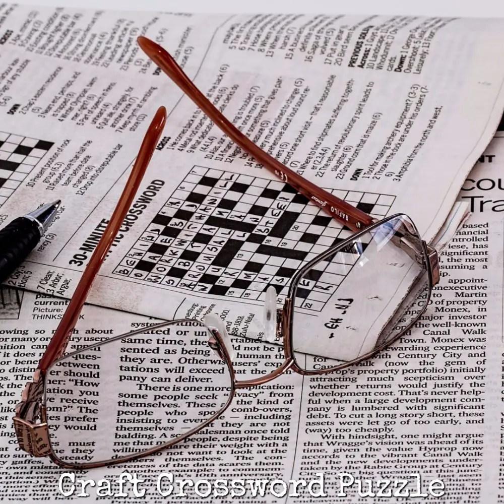 Craft Crossword Puzzle