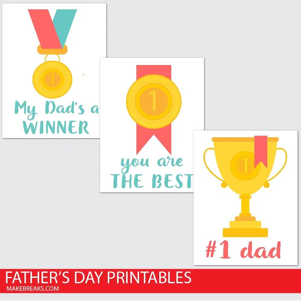Champion Dad Printable Poster