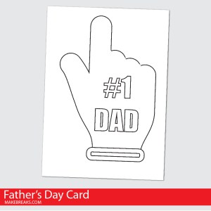 Free Printable Father's Day Card To Color