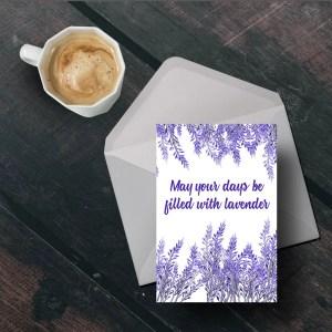 Free Printable Lavender Card