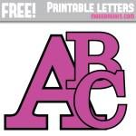 Purple With Black Edge Free Printable Alphabet