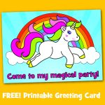 Free Printable Unicorn Magical Birthday Party Invitation