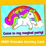 Free Printable Unicorn Magical Birthday Party Invitation