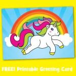Free Printable Unicorn Greeting Card 2