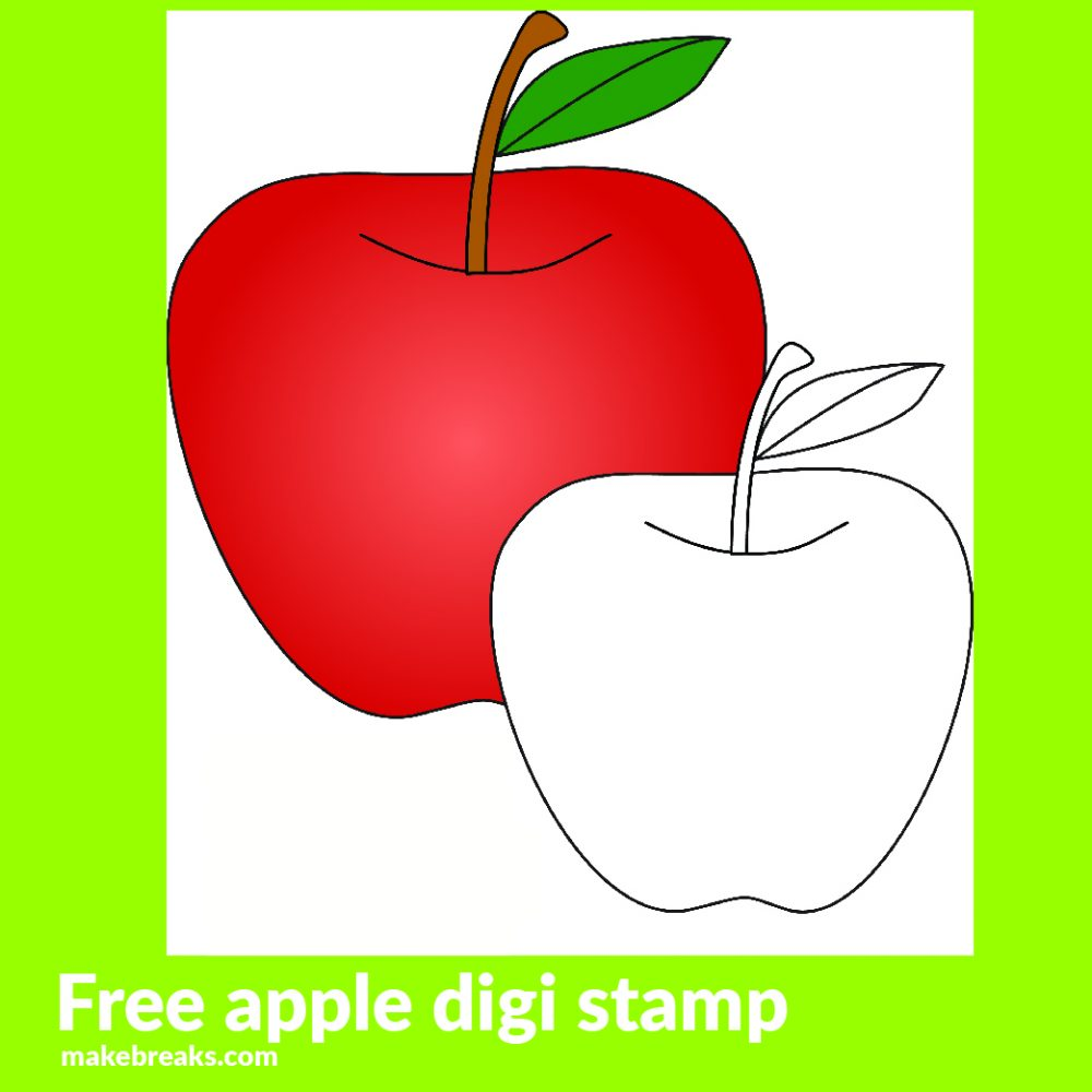 Apple Free Digital Stamp