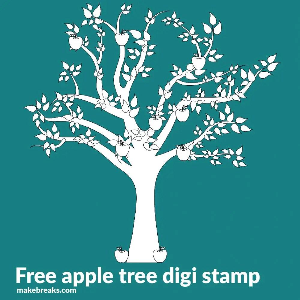 Apple Tree Free Digital Stamps