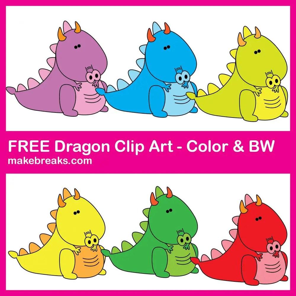 Free Cute Dragon Clipart For Teachers