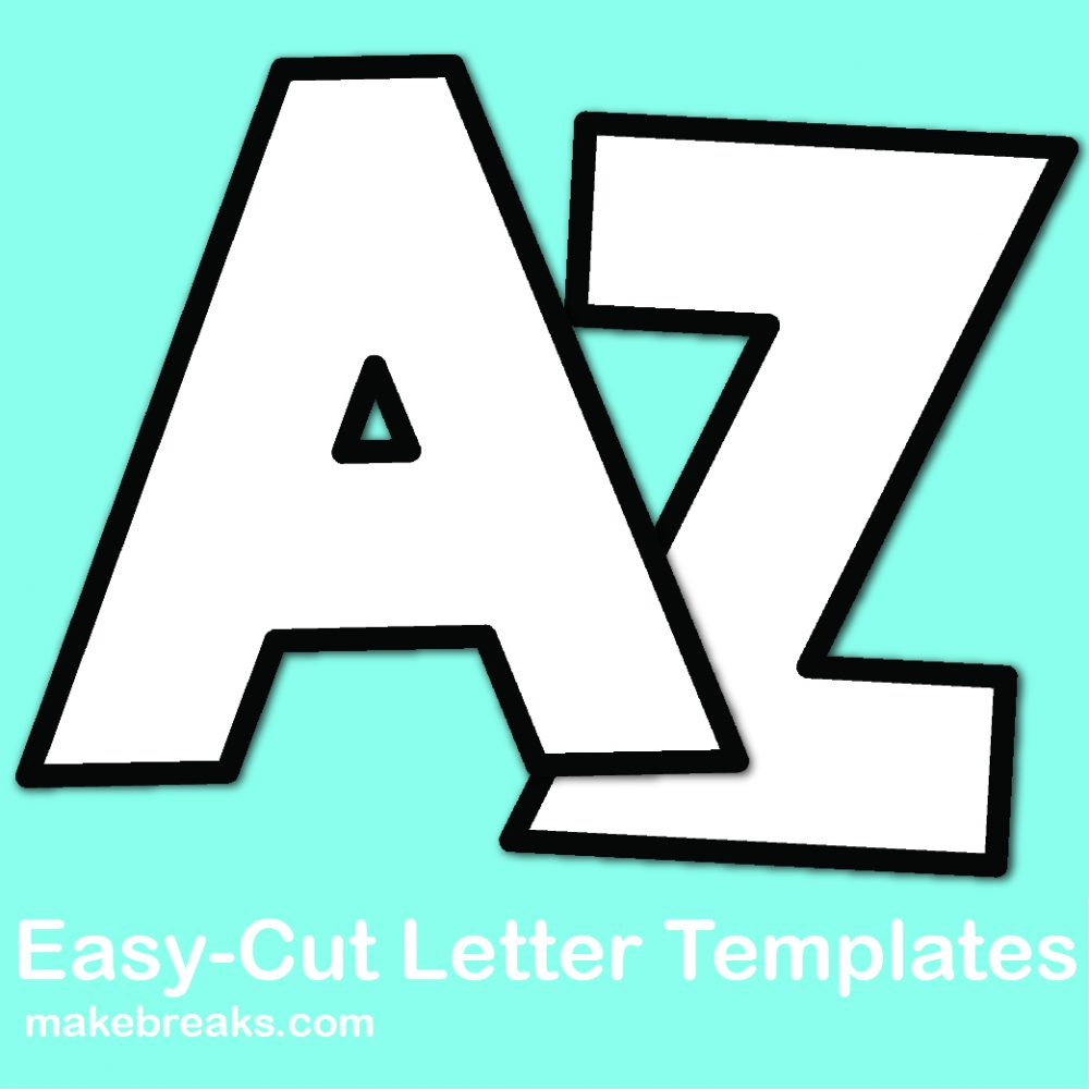 Free easy cut letter templates