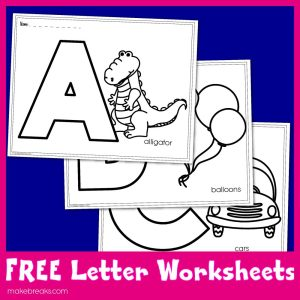 Free Letters to Color Worksheets For Teachers
