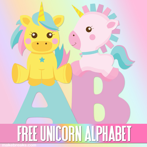 photograph regarding Printable Poster Letters known as Lovely Unicorn Alphabet Letters towards Print - Totally free Printable