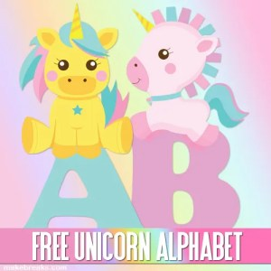 Cute Unicorn Letters to Print – Free Printable Alphabet