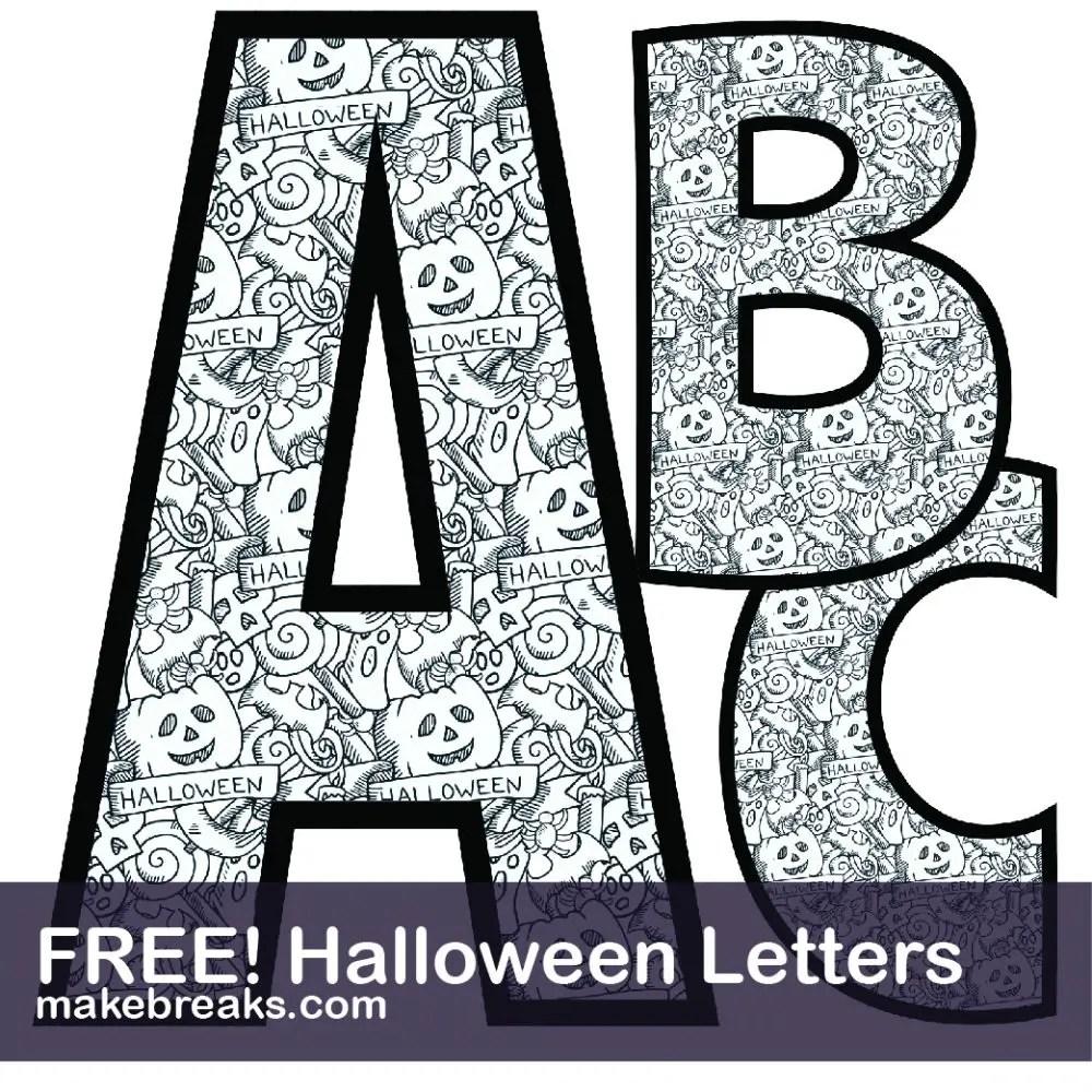 Halloween Coloring Alphabet