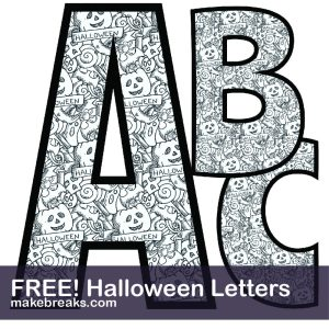 Coloring Page Halloween Free Printable Alphabet