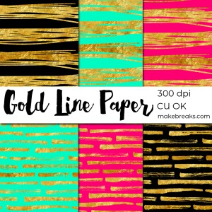 FREE Gold Foil Stripe Digital Paper Download