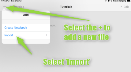 How to import your digital notebook into Goodnotes