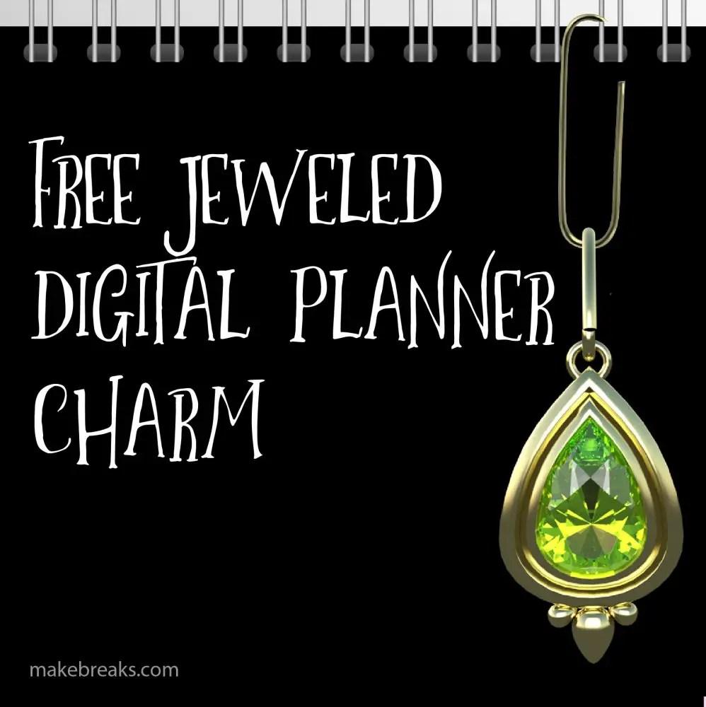 Free Peridot Digital Planner Paperclip Charm
