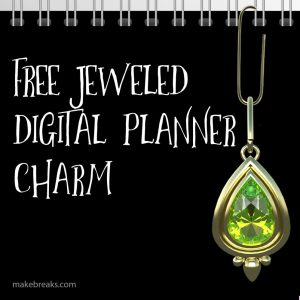 Free Peridot Digital Planner Paperclip Charm