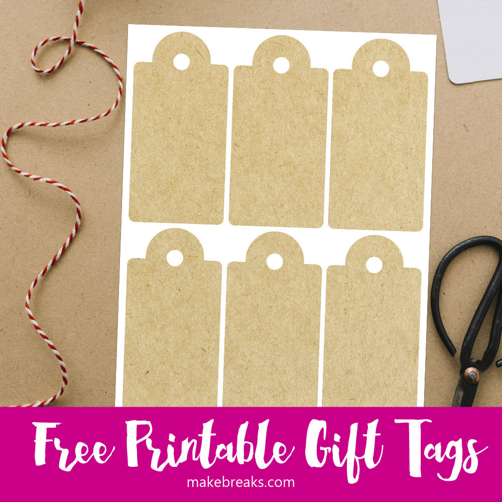 picture relating to Printable Kraft Tags titled Kraft Paper No cost Printable Present Tags - Generate Breaks
