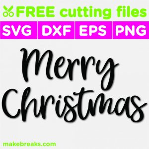 Free SVG Cutting File – Merry Christmas Script Style