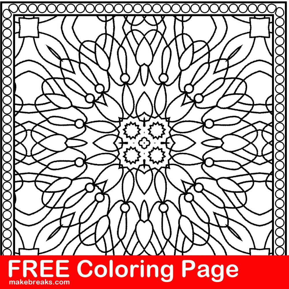 Free Coloring Page – Pattern Tile 5