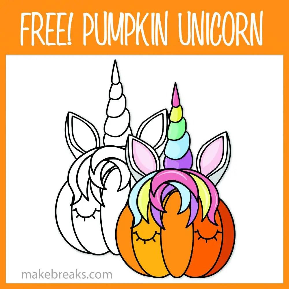 Unicorn Pumpkin Clipart For Teachers & Crafts