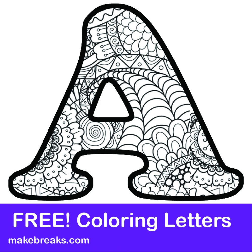 Printable letter alphabet coloring pages
