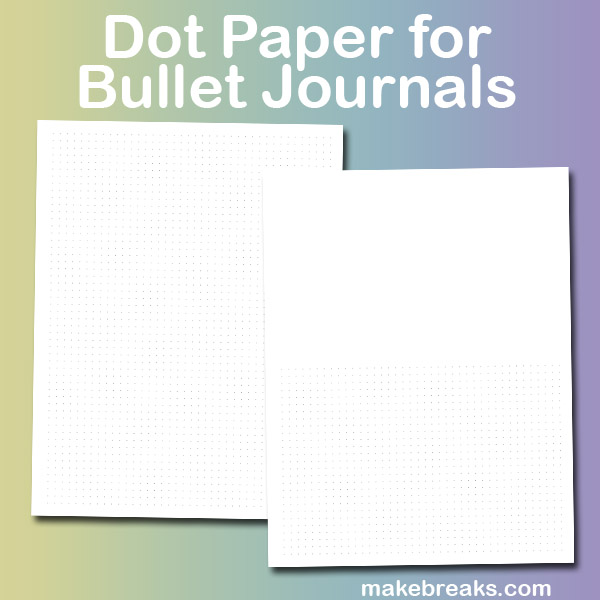 image relating to Free Printable Bullet Journal Pages known as Cost-free Printable Dot Paper for Bullet Magazine Web page - Crank out Breaks