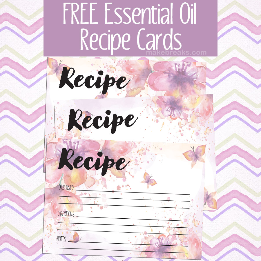 Free Essential Oils Recipe Cards – Floral Design