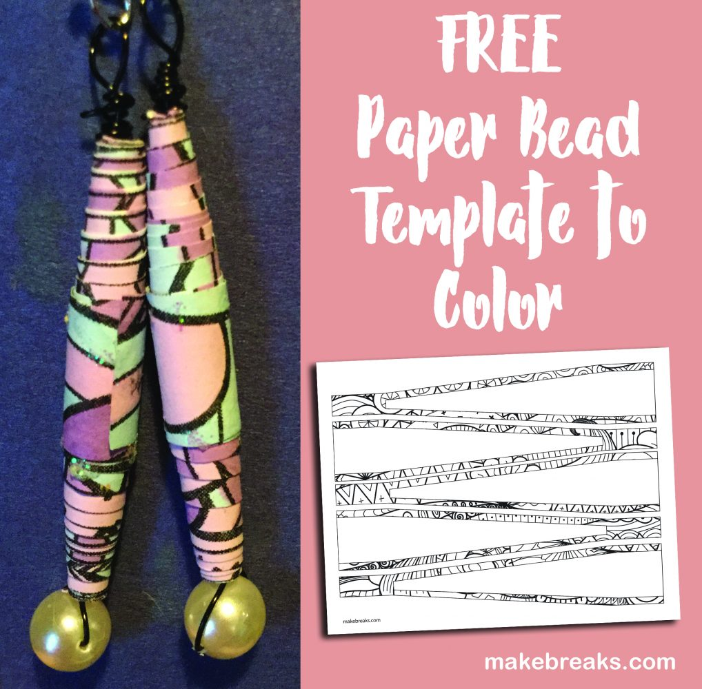 Free Paper Bead Template Coloring Page