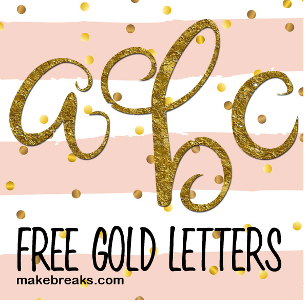 picture regarding Printable Gold Foil identified as Gold Foil Design and style Absolutely free Printable Letters - Reduce Situation Script