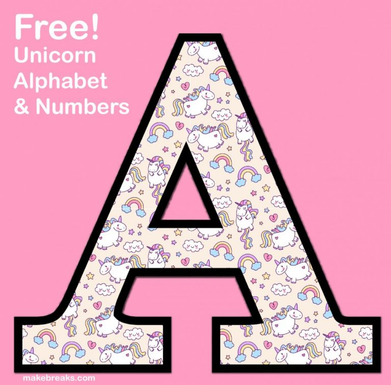 Unicorn alphabet pattern 3