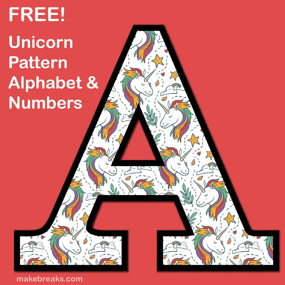 photograph relating to Printable Letters and Numbers identified as Unicorn Letters Figures in direction of Print 2 - Free of charge Printable