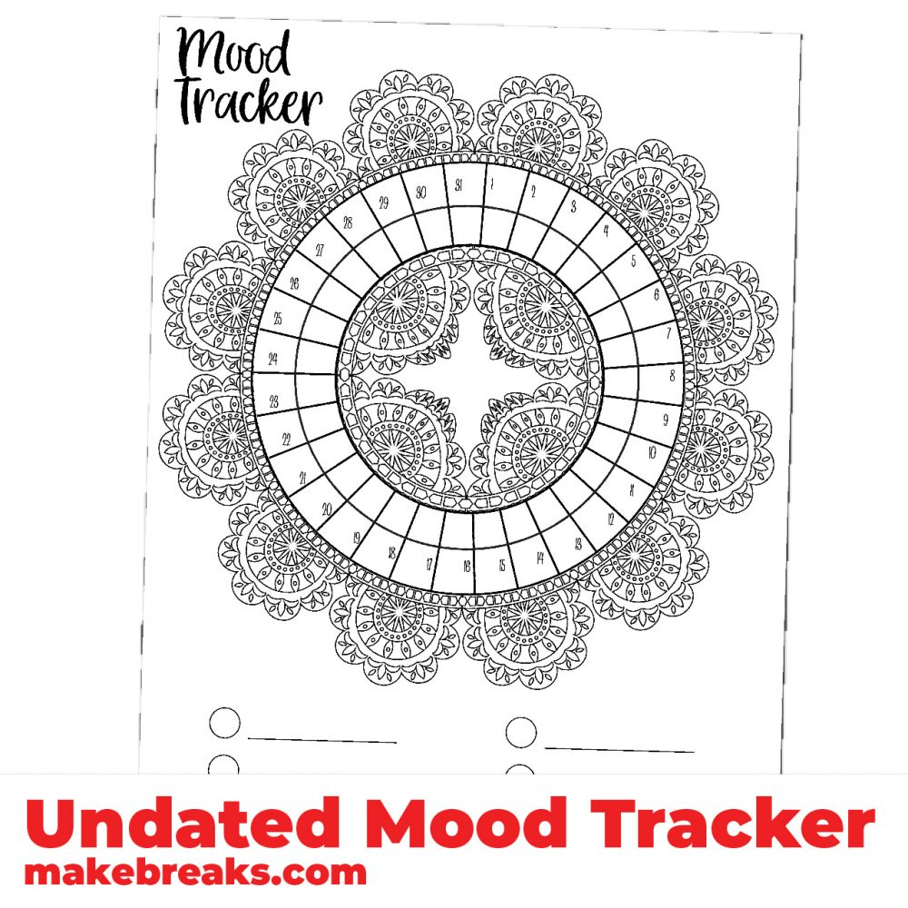 Undated Mood Tracker With Lace Frame