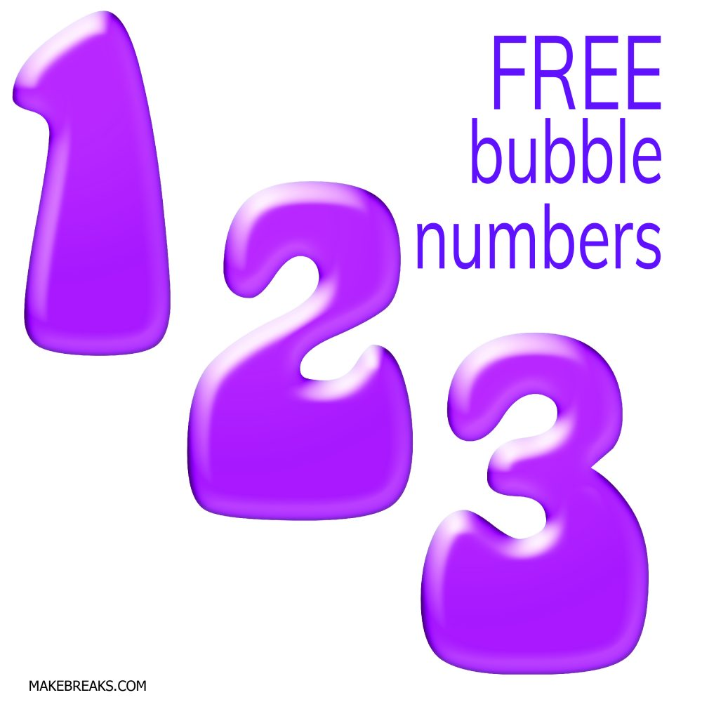 picture regarding Free Printable Numbers identified as No cost Printable Bubble Figures - Deliver Breaks