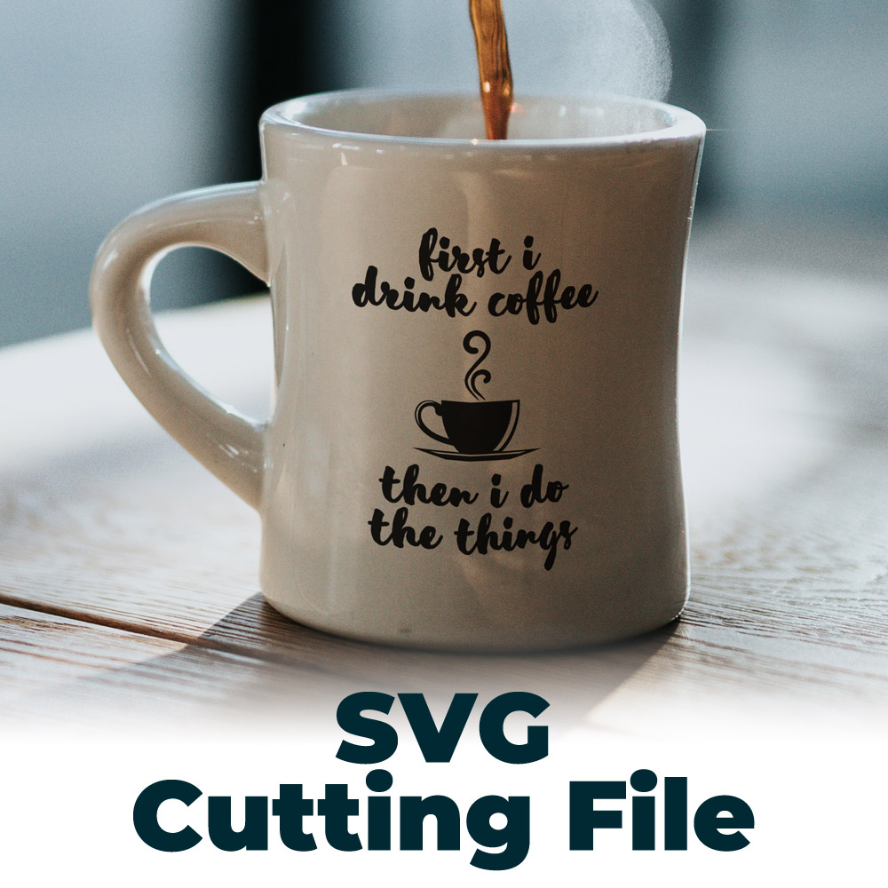 free coffee themed svg file