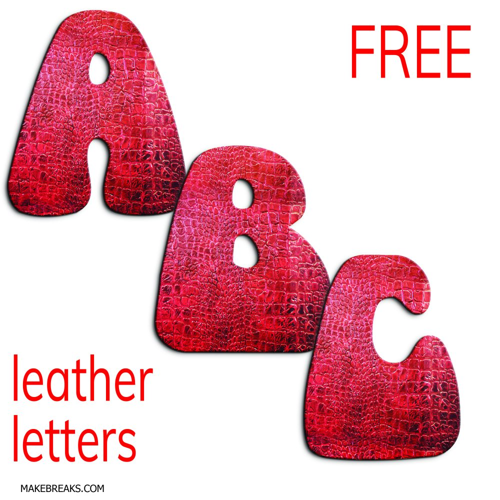 Leather Effect Free Printable Letters Alphabet