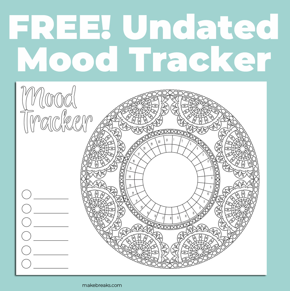 Undated Mood Tracker With Lace Frame (Landscape) 2