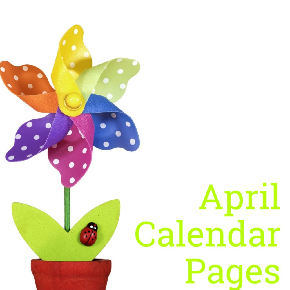 April 2019 Calendar Pages