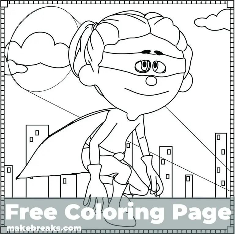 Superhero Coloring Page