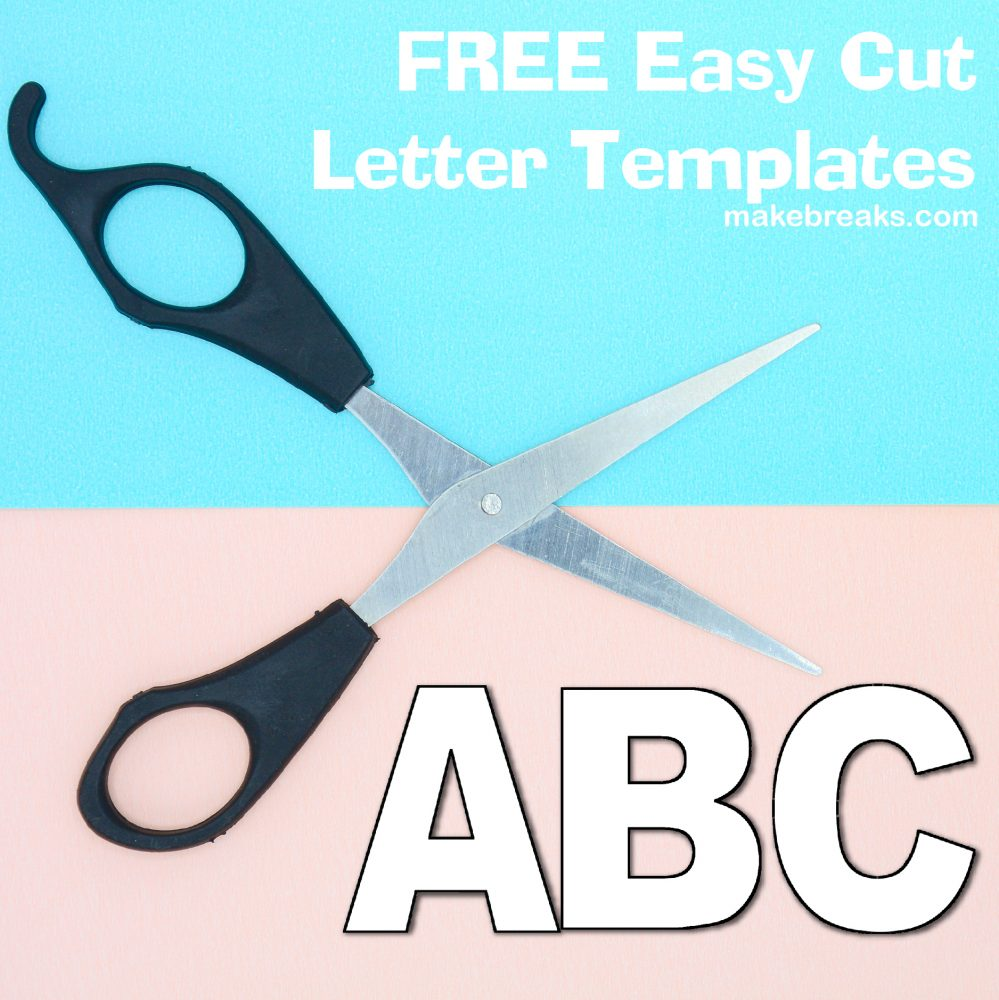 Free Alphabet Letter Templates to Print and Cut Out