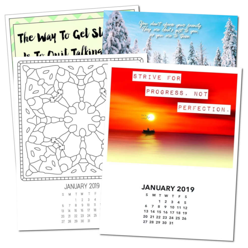Selection of Free Printable Calendar Pages by Month