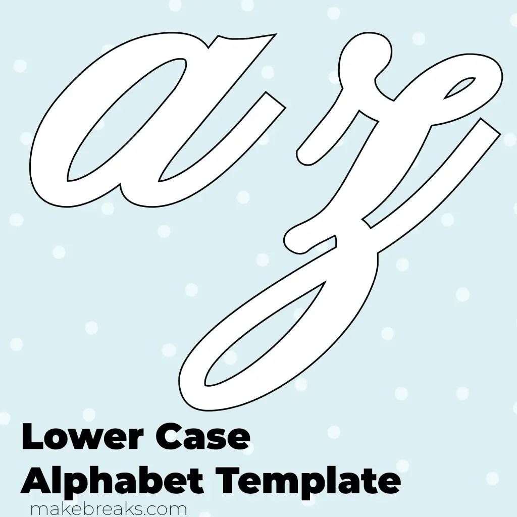 Free Printable Script Letter Alphabet Template