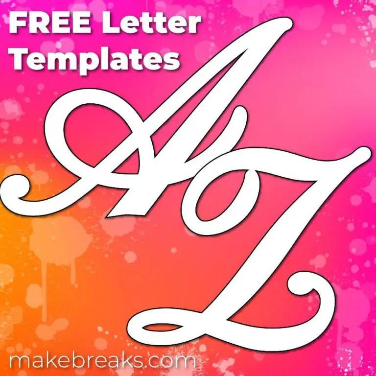 uppercase Script letter templates
