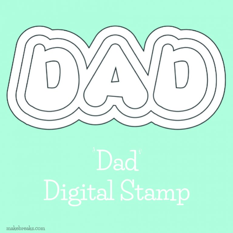 Dad digital stamp