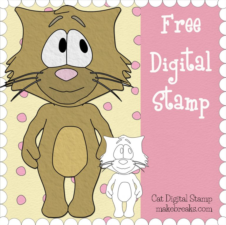 Free Cat Digital Stamp