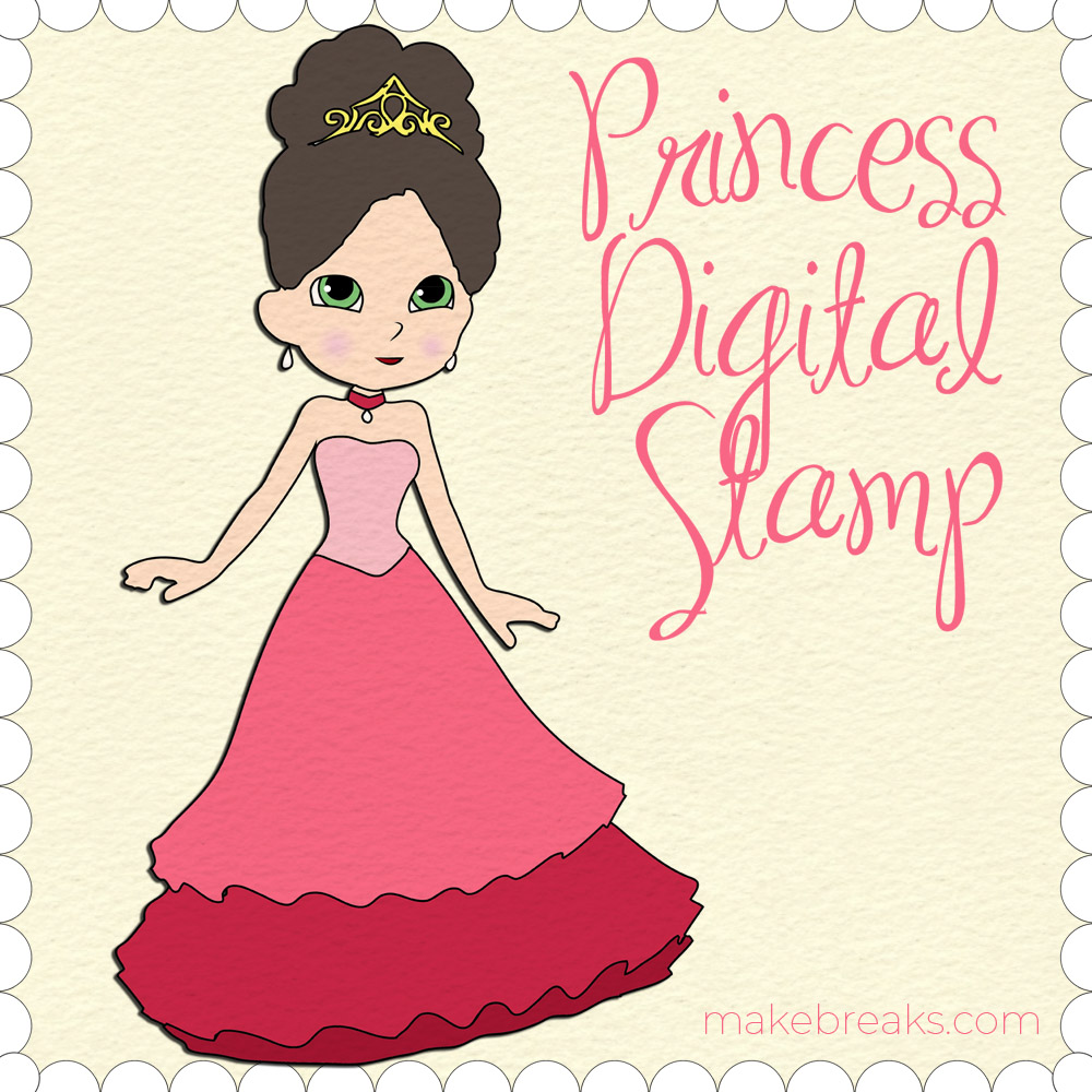 Free Princess Digital Stamp