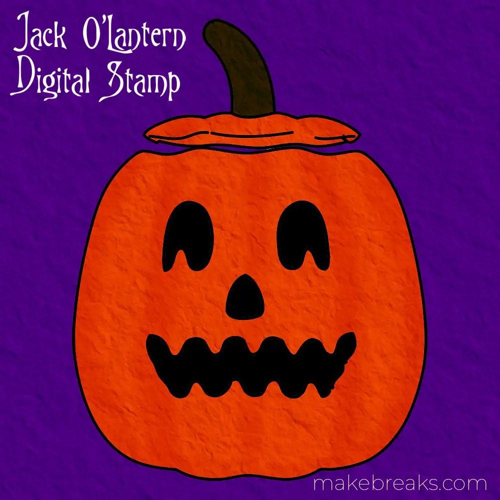 Free Digital Stamp – Jack O Lantern
